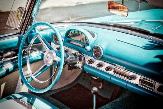 1950s Ford Thunderbird Classic Car Interior 50s Car   Etsy