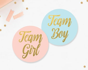 Team Girl Team Boy Stickers 28209c49e