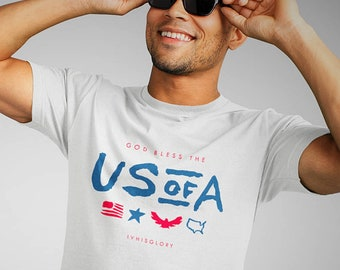 Christian T Shirts Men | Christian Shirts For Men | Jesus T Shirt | Christian Gifts | God Bless The USA
