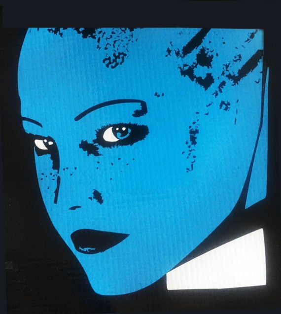 Mass Effect Liara Beautiful Vinyl Decal Etsy