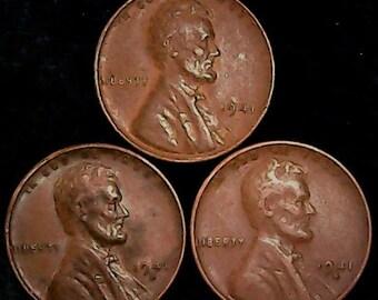 1941 wheat penny | Etsy