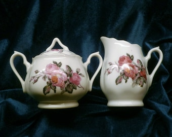 JAPANESE CREAMER & SUGAR Bowl From the 1950s Shipped carefully
