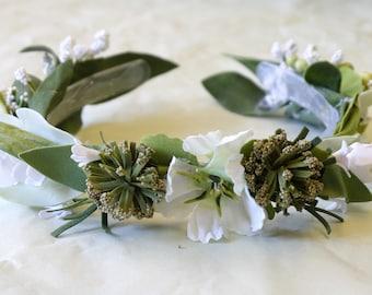 Bridesmaids flower headdress