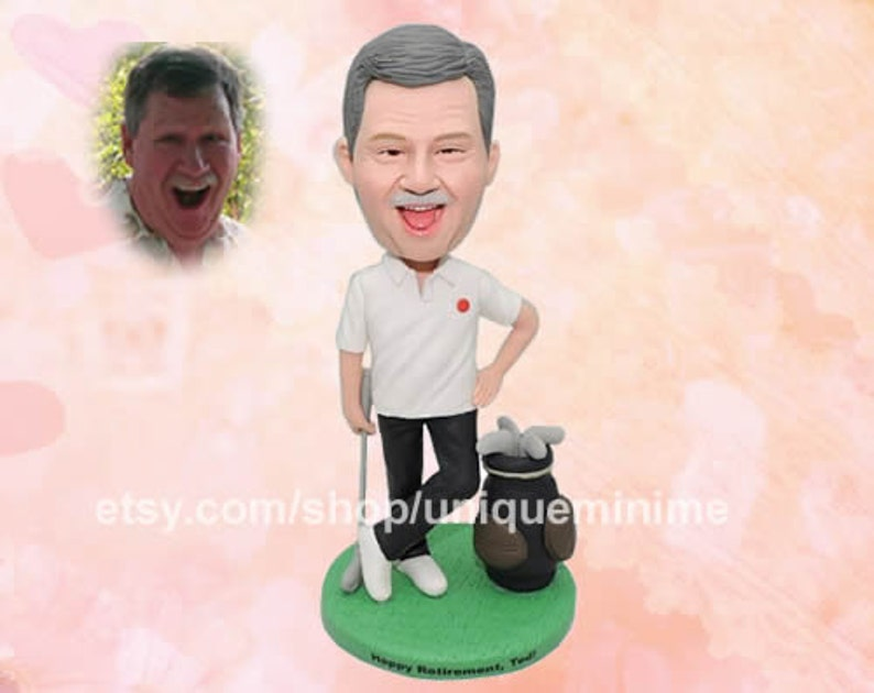 40th Birthday Gift For Men Present Husband Dad From Daughter Idea Custom Bobblehead Dolls