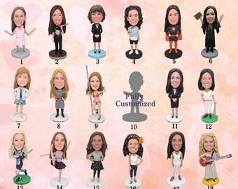 Custom Bobblehead Girl - Birthday gift for girl , Birthday gift for her, girl birthday gift, girl gift,Birthday gift to her