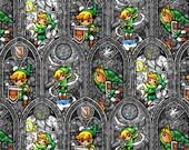 Surgical Medical Scrub Hat or Child Adult Face Masks Nintendo Video Games Legend of Zelda Link Stain Glass 100 Cotton washable
