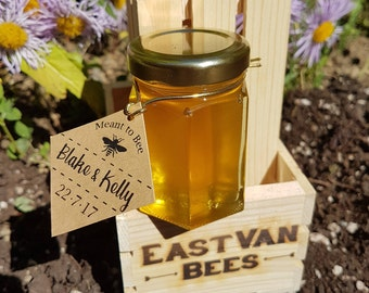 Honey Favors, 3 Ounce Jars, Honey Wedding Favor, Bridal Shower Favors, Baby Shower Favors, Love is Sweet, Meant to Bee, Raw Honey