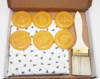 DIY Beeswax Food Wrap Kit- Eco-Friendly - Zero waste- Food Safe - Reusable *** FREE SHIPPING***