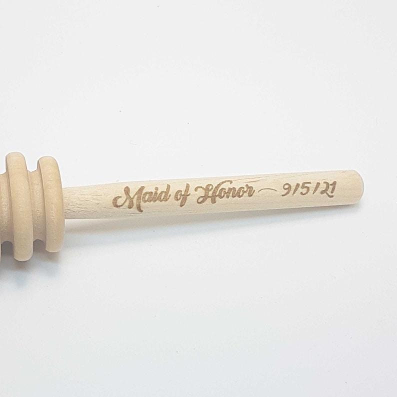 Custom Engraved Wooden Honey Dipper Set of 3