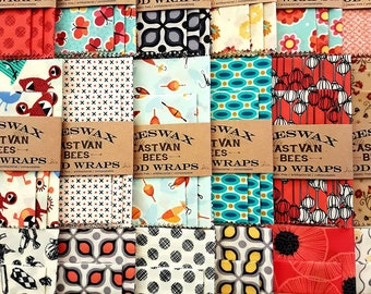 """Beeswax Food Wraps, 3 pack 8"""" - 11"""" -14"""", Zero waste, Food Safe, Reusable   *** FREE SHIPPING***"""