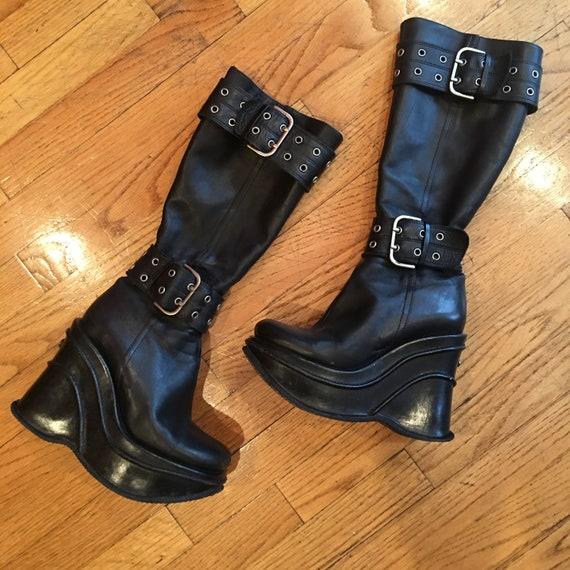 El Dantès Dantès Dantès Rare coin concepteur botte noir 7,5 | Forme élégante  fe61a8