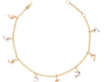 Anklets The Best Multi Color Dolphin Anklet Fashion Jewelry