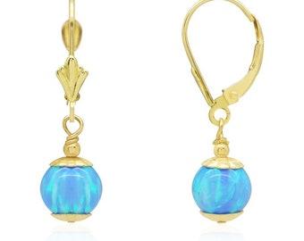 Angel Skin Pink Synthetic Fire Opal 14k White Gold Screwback Ball Stud Earrings