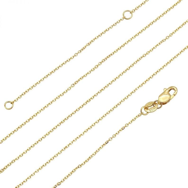 14k Tri-color Gold Boy Kid/'s Pendant Cable Chain Necklace 16 18