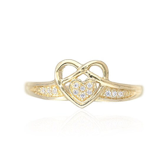 10k Yellow Gold Created Diamond Snake Cocktail Ring size 5-8