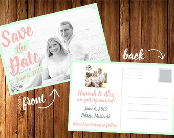 Save the Date Postcard with custom photo