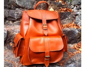 Women Leather Backpack from 100% Full Grain Leather