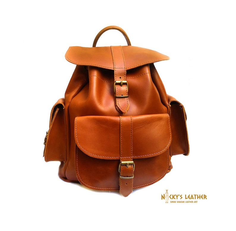 7bbc020bbfe2 Leather BACKPACK from 100% Full Grain Leather