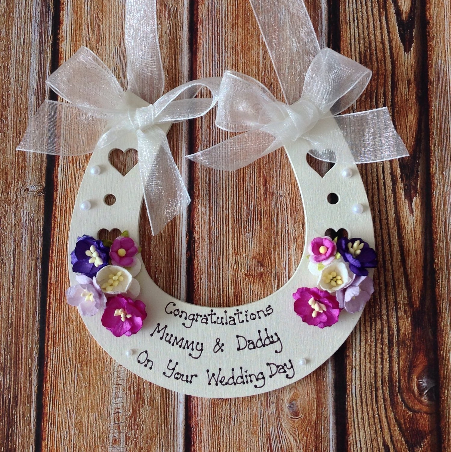 49203148717 Personalised Wedding Horseshoe keepsake gift to bride and groom on their  Special Day. $19.59. Shipping ...