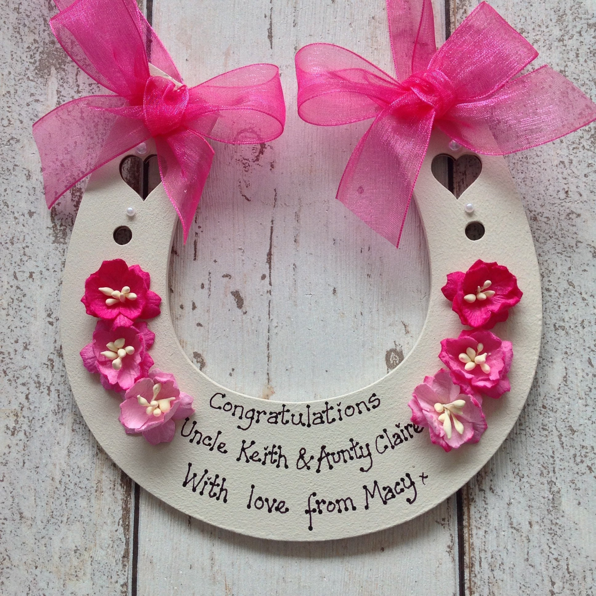 01603446fa0 Personalised Wedding Horseshoe keepsake gift to bride and groom on their  Special Day. 1