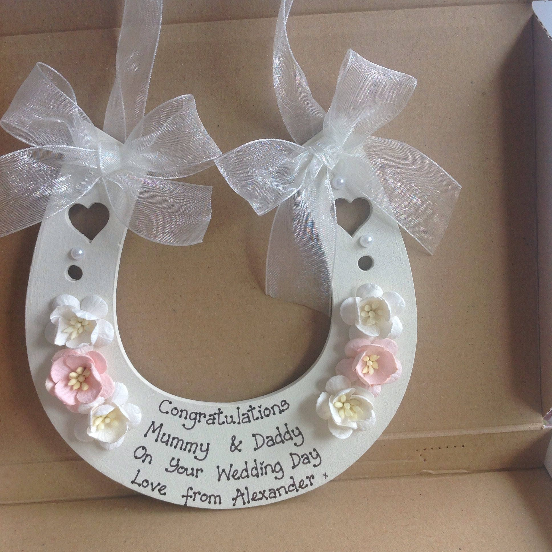 Horseshoe Wedding Gift: Personalised Wedding Horseshoe Wedding Gift Keepsake