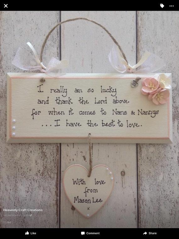 Handmade Personalised Christmas Card Grandparents Grandmother Nana Nan Grandma