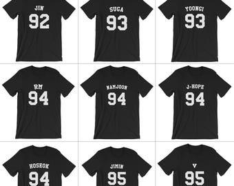 Kpop BTS Jersey T-shirt