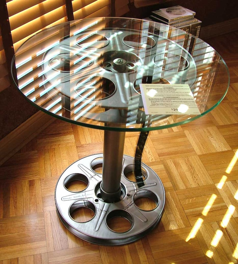 Movie Reel Side Tables Home Theater Game Room image 0