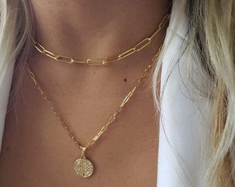 Link Chain Necklace Thick Gold Link Choker Chain Necklace Thick Chain  18K Gold Filled Gold Filled Chain Chain Body Necklace