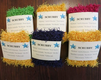 Knitted Scrubby Sponges
