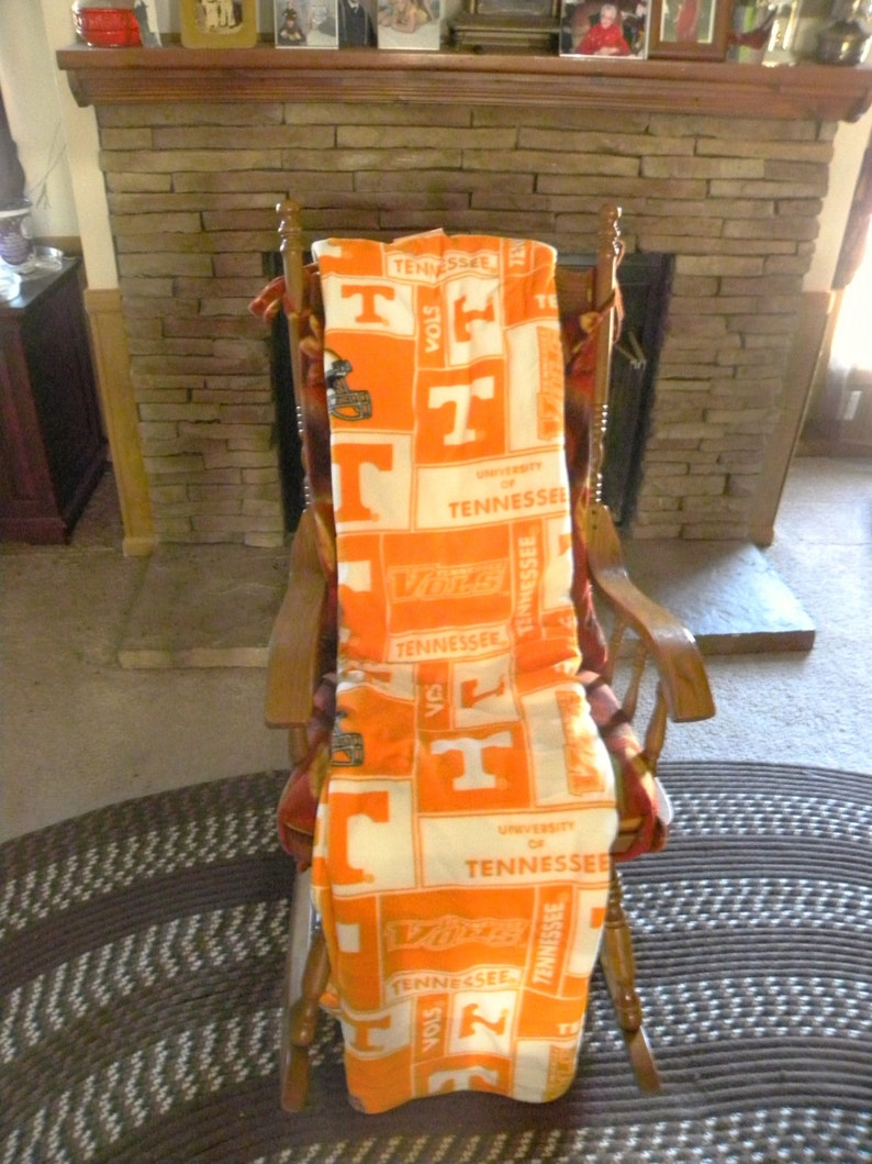 56 X 68 inches Stadium Blanket Tennessee Volunteers Free Shipping Football Fan Gift Fleece Lined University of Tennessee UT
