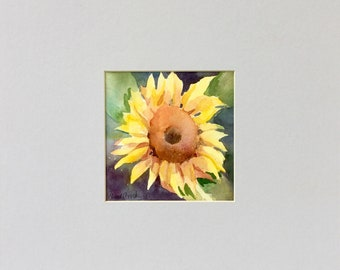 Watercolor Painting of Sunflower