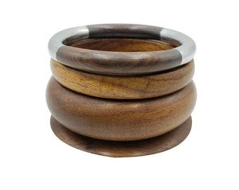 Wooden Bracelet Vintage Jewellery Wood Bangle Childrens Jewellery