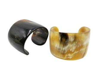 Natural Buffalo Horn Cuff Bracelet