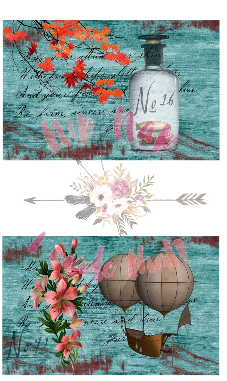 Digital Download Journaling Paper Craft Instant Download DIGITAL PRINTABLE TAGS Scrapbooking Collage