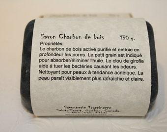 Charcoal soap, natural product, soap, handmade soap, handmade, man's soap, Trottinette soap, Soap
