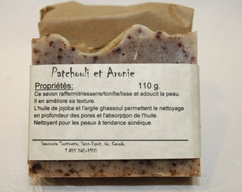 Patchouli and Aronie soap, handmade 100% natural soap,Cold process Natural Handmade Soap, Patchouli, natural product, soap