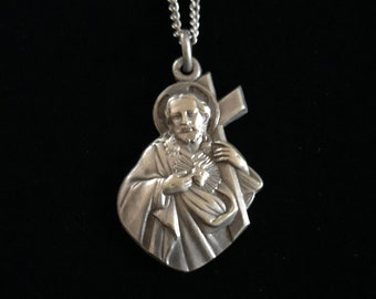 antique french the passion of christ pendant necklace