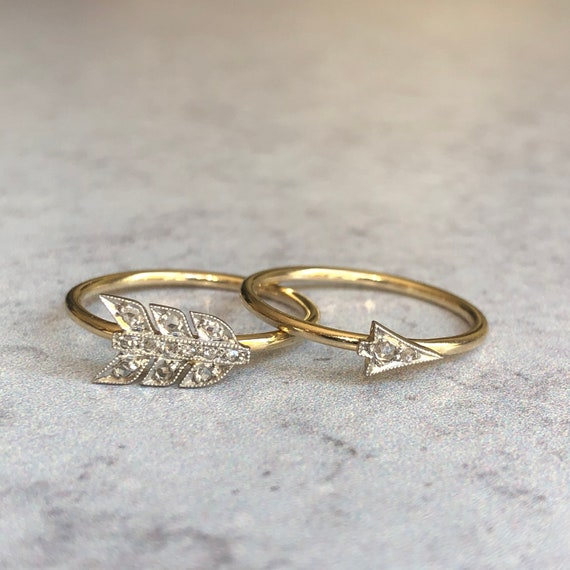 Victorian Lovers Arrow Rings