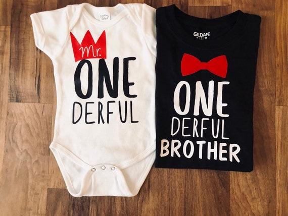 Onederful Brother First Birthday Boy Theme