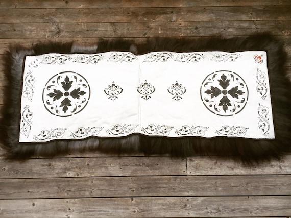 Hand made sheepskin rug long throw xl pelt for recliner, garden swing or bench
