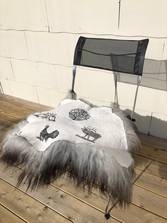 Seat cover sheepskin chair pad wool decoration fur cushion