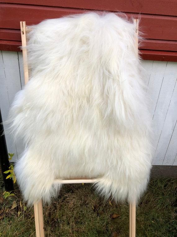 long haired pelt sheepskin rug spael sheep throw off white 20149