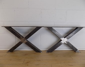 Coffee table legs etsy x style coffee table legs 2x2 set of two watchthetrailerfo