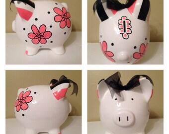 Stella Hot Pink Piggy Bank