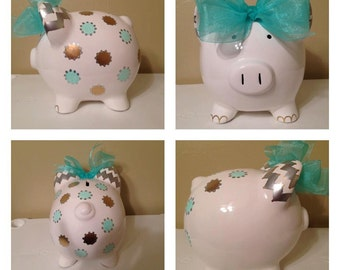 Rachelle Polka Dot Piggy Bank
