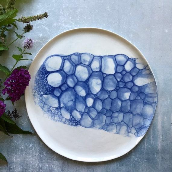 Mermaid series plate porcelain plate handmade ceramics Danish design