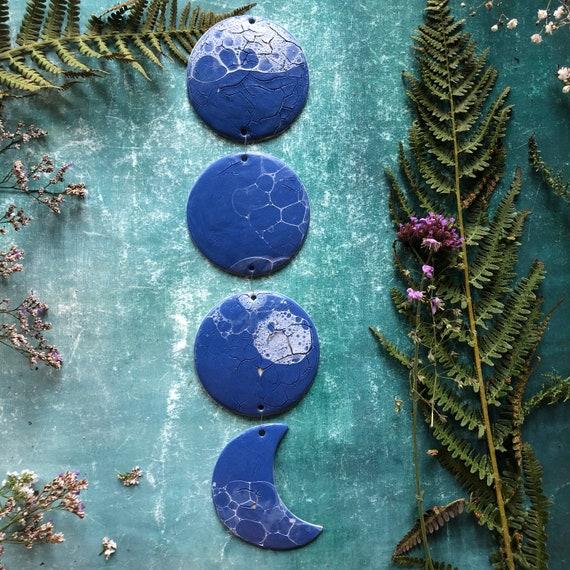 Blue stoneware moonphase