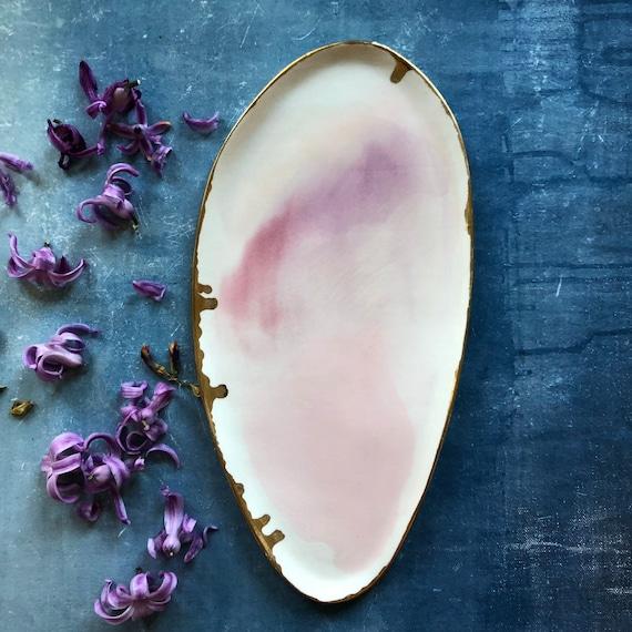 Pink porcelain platter