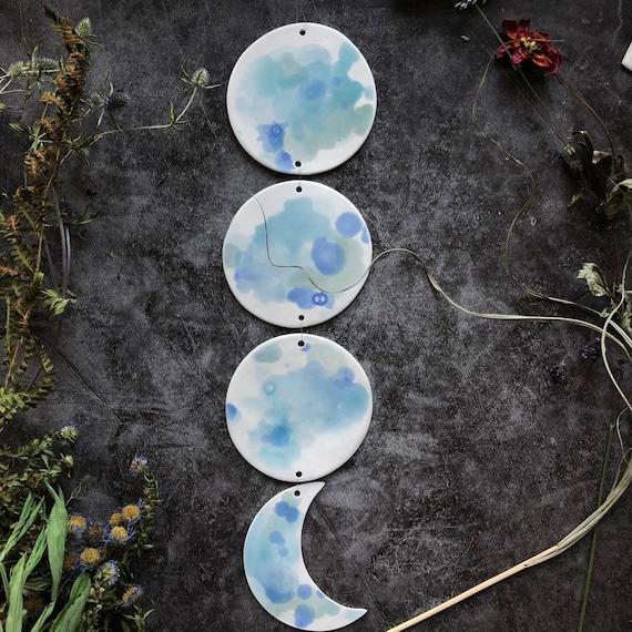 Blue porcelain moonphase